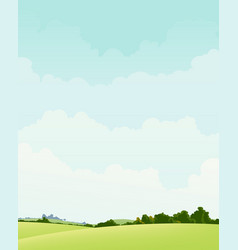 spring and autumn landscape vector image vector image