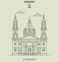 St stephens basilica in budapest vector