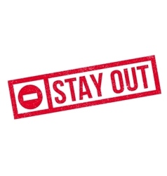 Stay Out rubber stamp vector image
