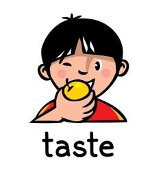 Taste Sense icon vector