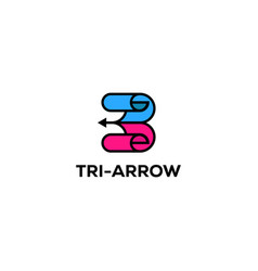three arrow logo designs creative inspirations vector image