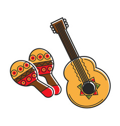 Traditional national mexican instruments with vector