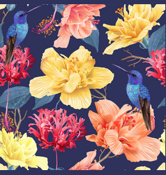 Tropic floral pattern vector