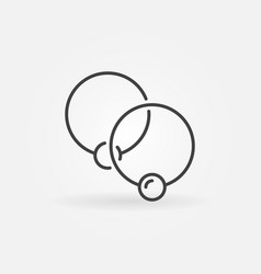 Two captive rings minimal icon - ball vector