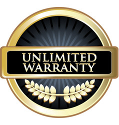 unlimited warranty icon vector image