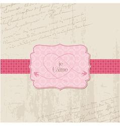 Vintage wedding love card - for design invitation vector
