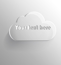 volumetric cloud for text vector image
