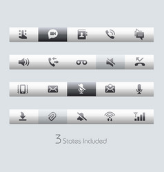 Web and mobile 1 - toolbars vector