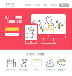 Website banner and landing page journalism vector