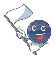 with flag picture neptune planet in cartoon form vector image