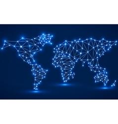 Abstract polygonal world map vector image vector image