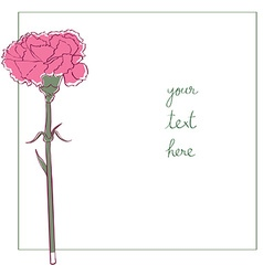 carnation minimal card vector image vector image