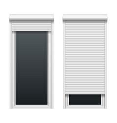 Door with roller shutters vector image