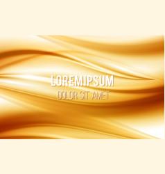 Golden satin silk waves Yellow background vector image