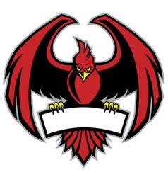 red bird mascot vector image