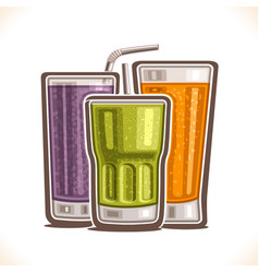 refreshing drinks vector image vector image