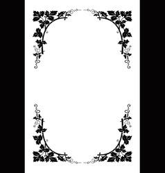 vector floral border vector image vector image