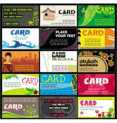 15 colorful business cards set vector image