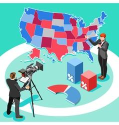 Election News Infographic Spokesman Isometric vector image vector image