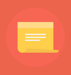 Sticky note icon vector