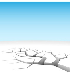 Abstract 3D land cleft isolated on white vector image vector image