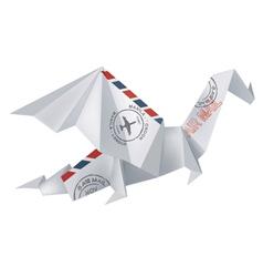 Air mail origami dragon vector