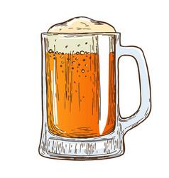 beer mug on white background vector image