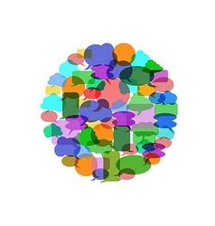Color speech bubble group vector image