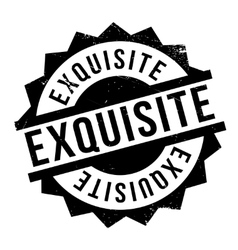 Exquisite rubber stamp vector image vector image