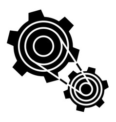 motor settings - engine icon vector image