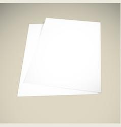paper on a beige background mock up vector image vector image