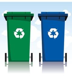 Recycling bins vector