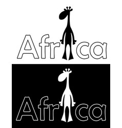 set with cheerful giraffe isolated vector image vector image