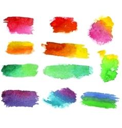 Watercolor aquarelle dabs vector