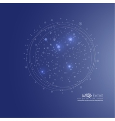 Abstract background with cell amoeba molecule vector image
