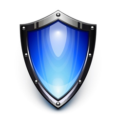 blue security shield vector image