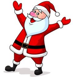 Cute Santa Cartoon Waving vector image vector image