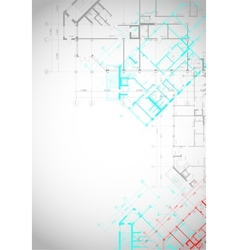 Gray architectural background with building plans vector image vector image