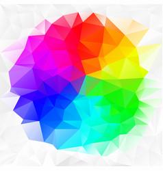 irregular polygon background color spectrum vector image vector image