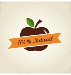 Organic food label tag and graphi element vector image vector image