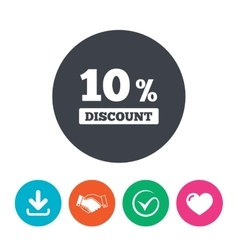 10 percent discount sign icon Sale symbol vector image