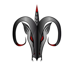 Abstract aries sign vector