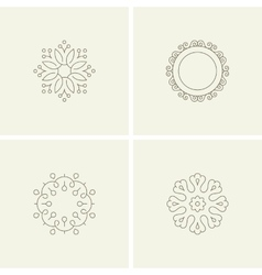 Abstract flower elements vector image