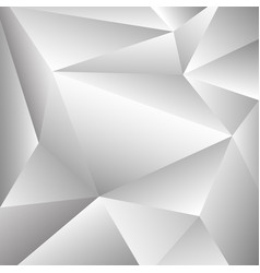 abstraction of grey and white polygon shape vector image