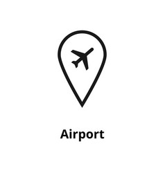 airport line icon vector image