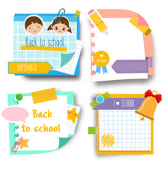 back to school stickers design template of memory vector image