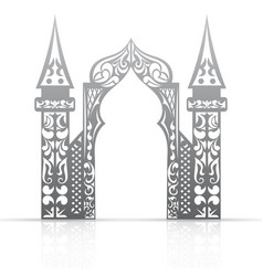 Background with arch in the Asian style vector