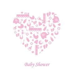 Bagirl birth card vector