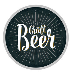 Beer fest lettering with rays vintage vector
