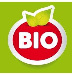 Bio food label vector image